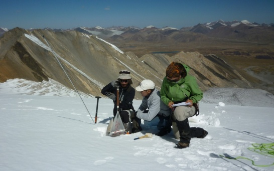 Enlargement: On-site Training Glacier in Central Asia