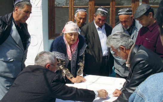 Enlargement: Dialogue between users in Central Asia
