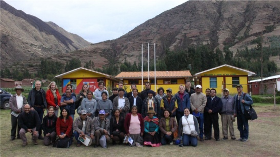 Enlargement: Meeting wirh farmers in Cuzco, Peru