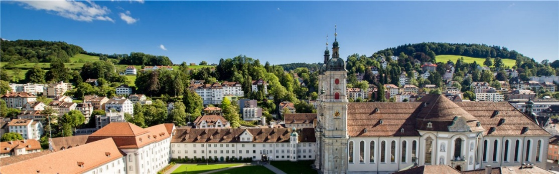 Abbey precincts and cathedral in the historic city centre of St. Gallen
