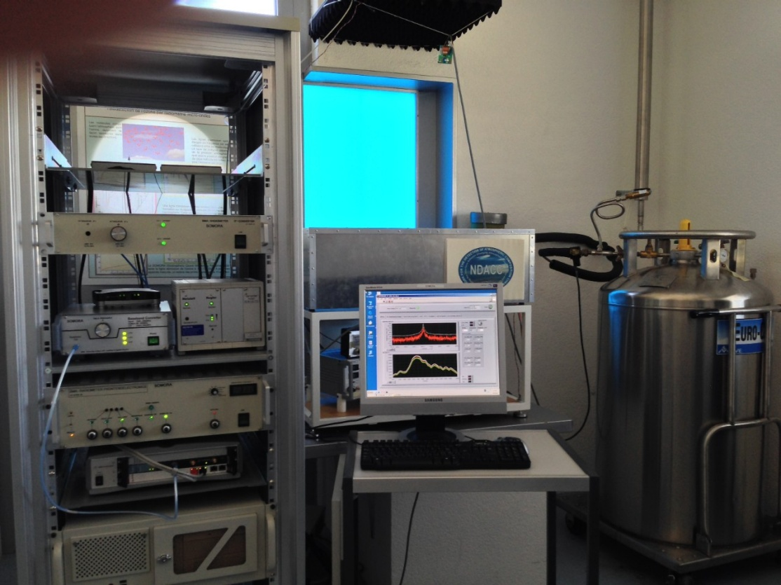 Enlargement: The microwave radiometer SOMORA in Payerne
