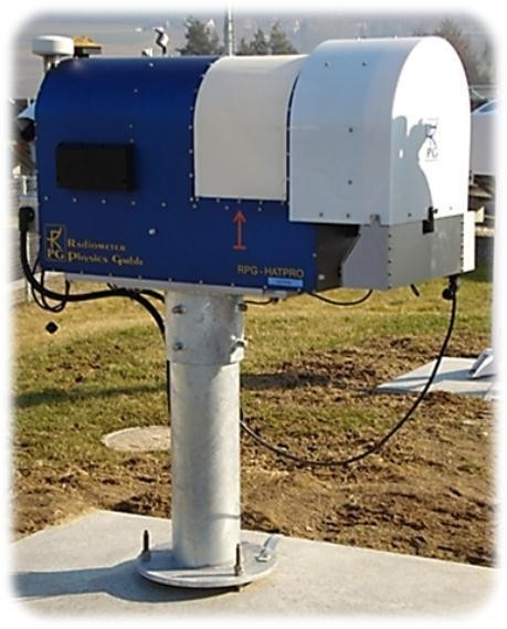 The microwave radiometer HATPRO from RPG in Payerne