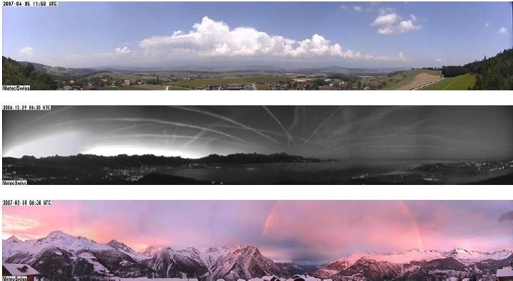 Enlargement: In addition to monitoring the weather, the MeteoSwiss cameras also provide impressive images of weather phenomena.