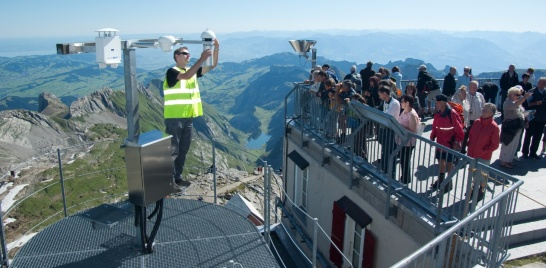 Enlargement: IInauguration of the meteorological observatory on Mount Säntis.